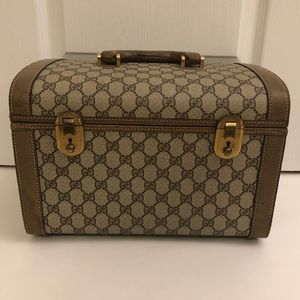 Authentic Vintage Gucci Cosmetic Hard Case